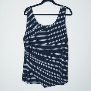 Torrid Black/White Striped Layered Tank Top. SZ 2